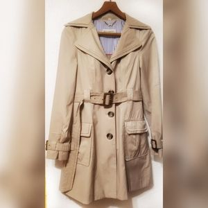 Steve Madden Double Breasted Pleated Trench Coat